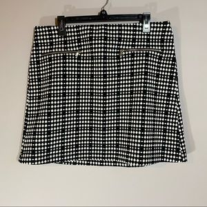 NWT Loft Stretch Checked Mini Skirt, Size LP